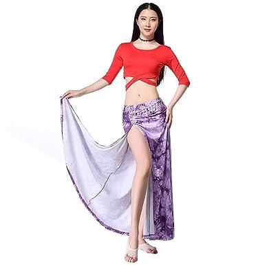 Amazon.com: Traje de ropa para práctica de danza del vientre ...