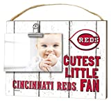 "KH Sports Fan 10""x 8"" Cincinnati Reds Clip It Weathered Baby Logo Photo Frame"