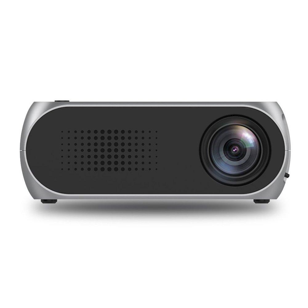 ETbotu Mini Projector Home Theater Cinema TV Portable LED Projector 1080P HDMI/USB/SD/AV Projector Silver Gray
