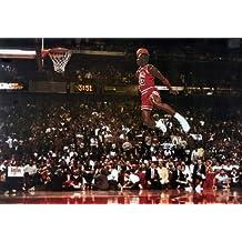 Michael Jordan Famous Foul Line Dunk Vintage Sports Poster Print - 24x35