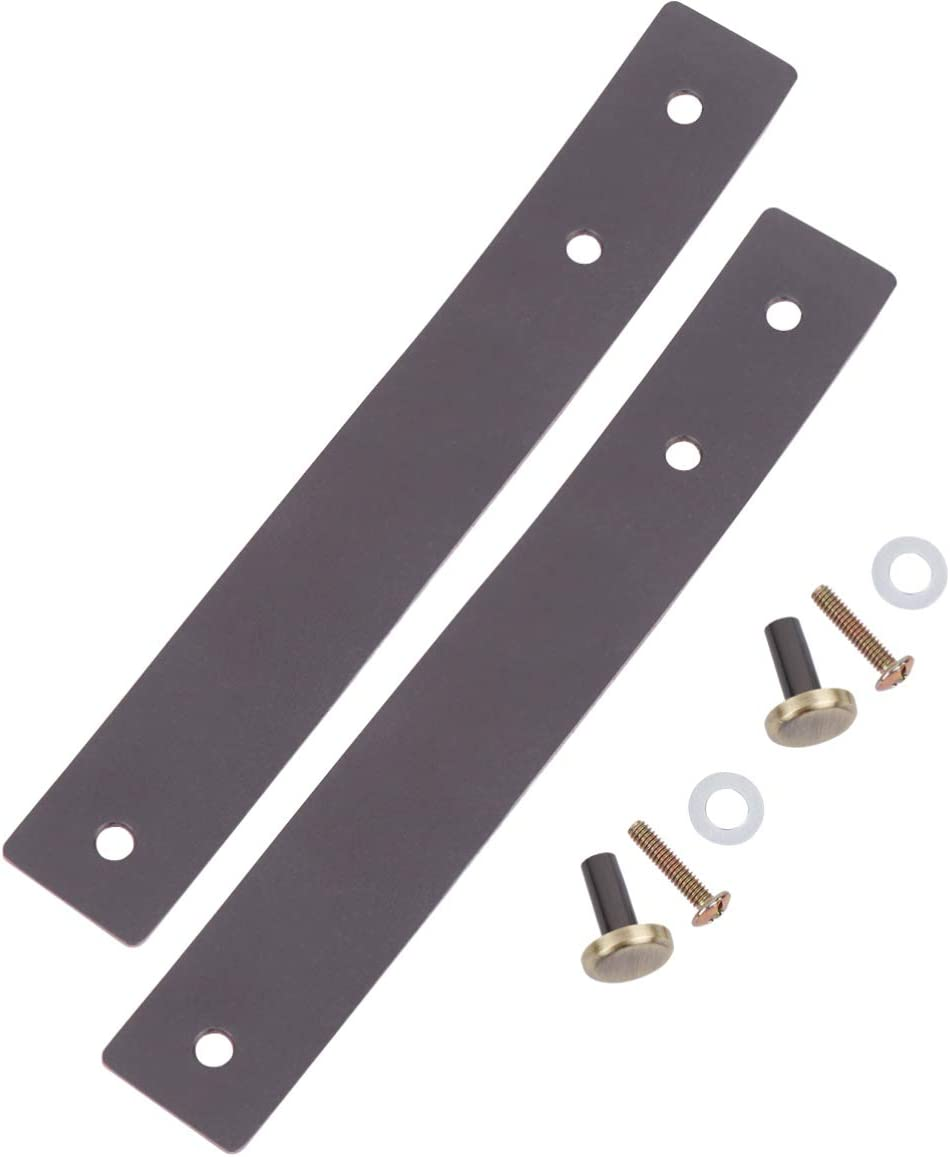 Healifty 2PCS Leather Handle Vintage Handle Pulls Handle Strap Replacement for Furniture Drawer Door Cabinet Wardrobe Brown