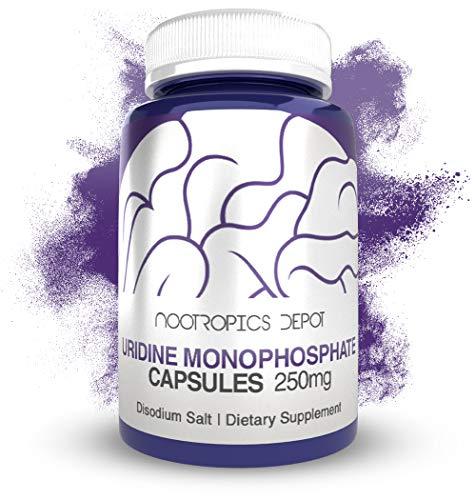 Uridine Monophosphate Capsules | Disodium Salt (60 Count) | Nootropics Depot | Cognitive Enhancer | Nootropic | Choline Precursor