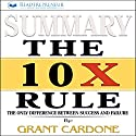 Summary of The 10X Rule: The Only Difference Between Success and Failure Audiobook by  Readtrepreneur Publishing Narrated by Donna Lorenz Motta