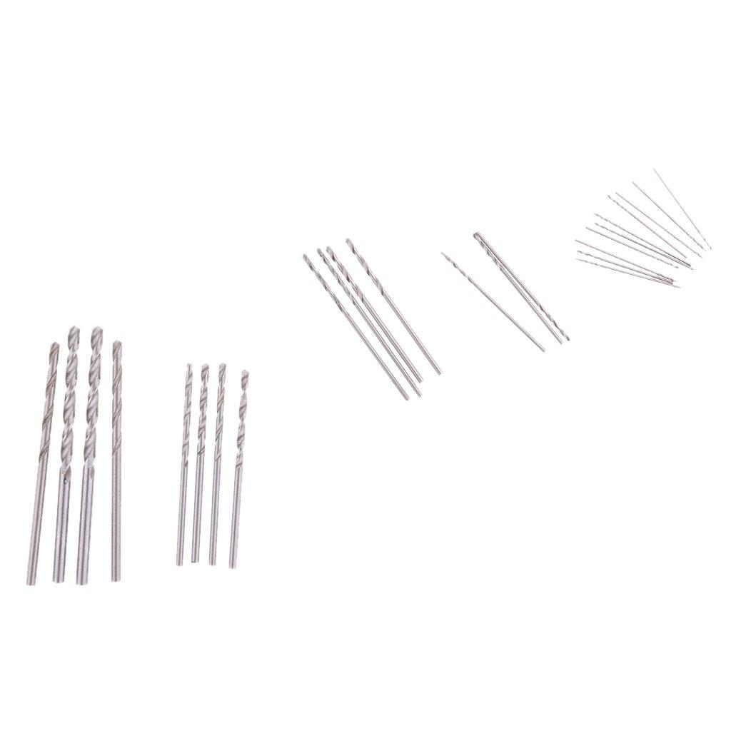 Sharplace Forets HSS Hélicoïdaux Mèche pour Plastique Bois Métal - 1, 0 mm à 3, 0 mm 0 mm à 3