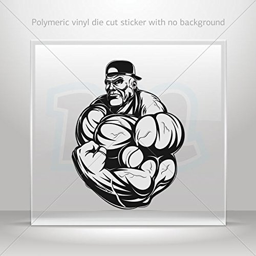 Stickers Decal GYM bodybuilding fitness Tablet Vehicle Weatherproof Ga (4 X 3.02 Inches)