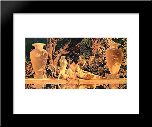 Garden of Allah 20x24 Framed Art Print by Parrish, Maxfield - Maxfield Parrish Garden