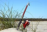 5 Foot 7 Inch 1.8 M Telescoping Fiberglass Rod and Reel Combo by FTUSA by Fishing Time USA FTUSA®