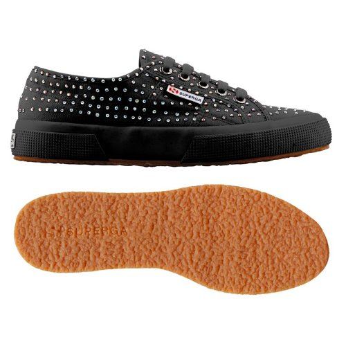 Superga, Sneaker Donna, Full Black, 42 Eu