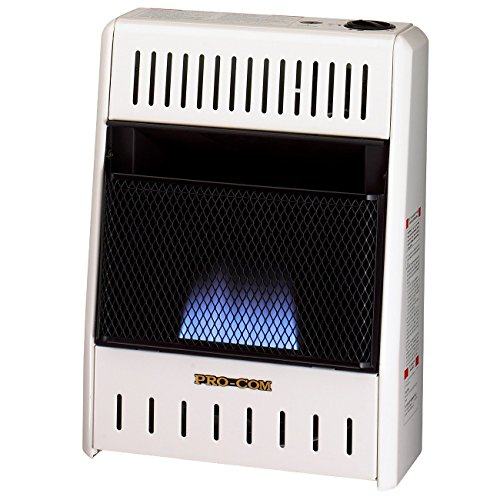 Procom Blue Flame - ProCom ML060HBA Liquid Propane Flame Space Heater Wall, 6000 Btu, Blue