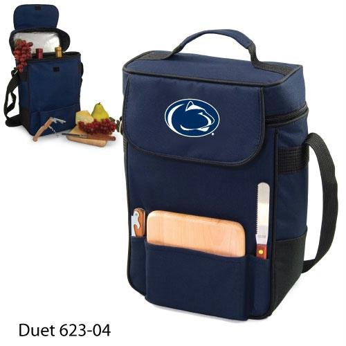 (PICNIC TIME NCAA Penn State Nittany Lions Duet Insulated Wine and Cheese Tote with Team Logo)