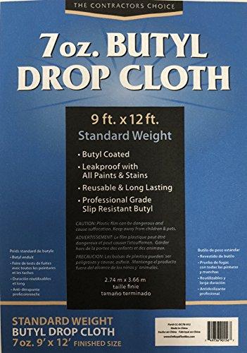 Butyl Drop Cloth, 9'x12', 7oz.