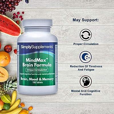 Vitaminas para la Memoria - ¡Bote para 2 meses! -180 Comprimidos ...