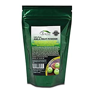 Amla Fruit Powder 8 oz (Emblica officinalis) Organic 100% Pure by Zokiva Nutritionals