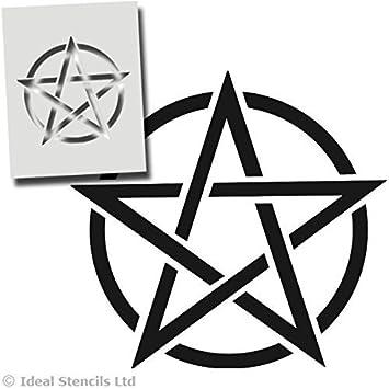 Pantacle Estrella Plantilla, magia símbolo Decoración Casera De Pared, Artesanía Pintura Impresión - pintura Paredes Telas Muebles - Lavable Reutilizable ...