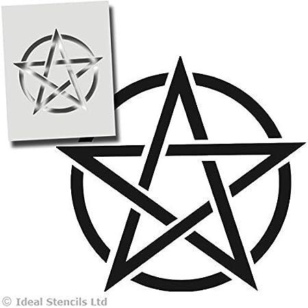 Pentacle Star Stencil Pentagram Witchcraft Star Symbol Halloween