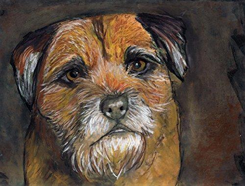 Border Terrier Wall Art Print, Border Terrier Pastel Painting Print, Dog Nursery art,Border Terrier Owner Gift, Dog Wall Art Print, Colorful Border Terrier Mom Decor - Border Terrier Prints