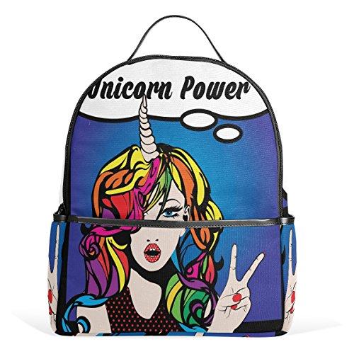 Personalised BookBag with Strap Personalised Unicorn Book Bag School Bag Bookbag