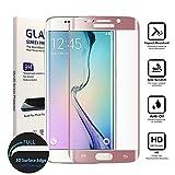Galaxy S7 Edge Screen Protector,Samsung Galaxy S7 Edge Screen Protector Tempered Glass, Carryberry [3D Full Curved Edge] Screen Protector for Samsung Galaxy S7 Edge [Edge to Edge], Rose Gold
