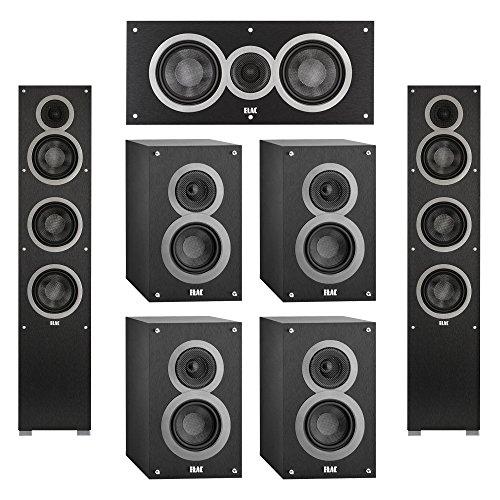 Elac 7.0 System with 2 Debut F5 Floorstanding Speakers, 1 Debut C5 Center Speaker, 4 Debut B4 Bookshelf Speakers by Elac