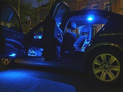 Led l illuminazione per interni auto set di lampade blu amazon
