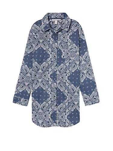 - Victoria's Secret Women's Lightweight Sleepshirt Blue Paisley Medium