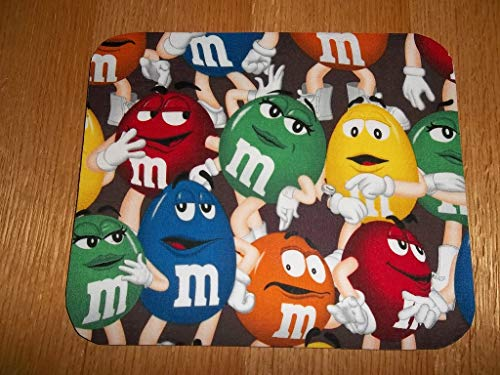 Mouse Mms - Mouse Pad, Peanut M&M's, Handmade, Gift, Office Decor, Desk Accessory, Rectangle, Mouse Pads, MousePad, Computer Mouse Pad, Mouse Mat