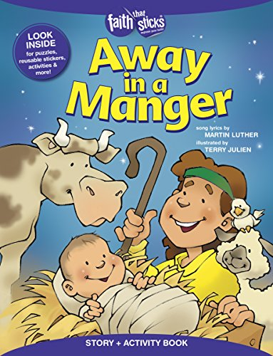 Away in a Manger Story + Activity Book (Faith That Sticks Books)