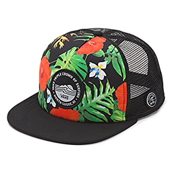 a77e3c433a Vans VTCS Trucker Snapback Hat Black Tropical Mens One Size  Amazon.co.uk   Clothing