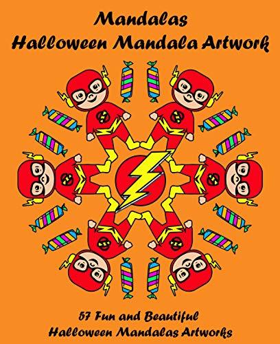 Mandalas - Halloween Mandala Artwork: Halloween Books for Kids and Adults, Mandala Book (Mandalas for Kids and Adults 1) ()