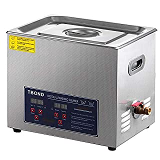 SHZOND Ultrasonic Cleaner 1.59Gal / 6L Stainless Steel Heated Ultrasonic Cleaner 180W Ultrasonic Power Ultrasonic…