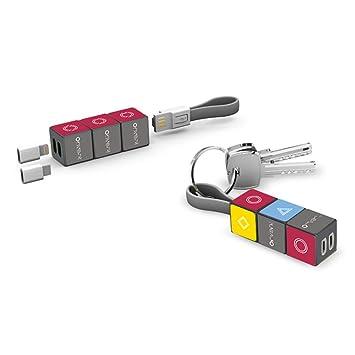 DASHAN Cable USB 3 en 1, Cable de Carga múltiple con Puerto ...