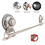 SltClub Bathroom Towel Bar 304 Stainless Steel Wall Mounted Suction Cup Towel Rack Holder for Bathroom or Kitchen 24-inch