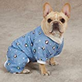 Casual Canine ZM3971 10 19 Blizzard Buddies Pajama for Dogs, X-Small, , Blue Review