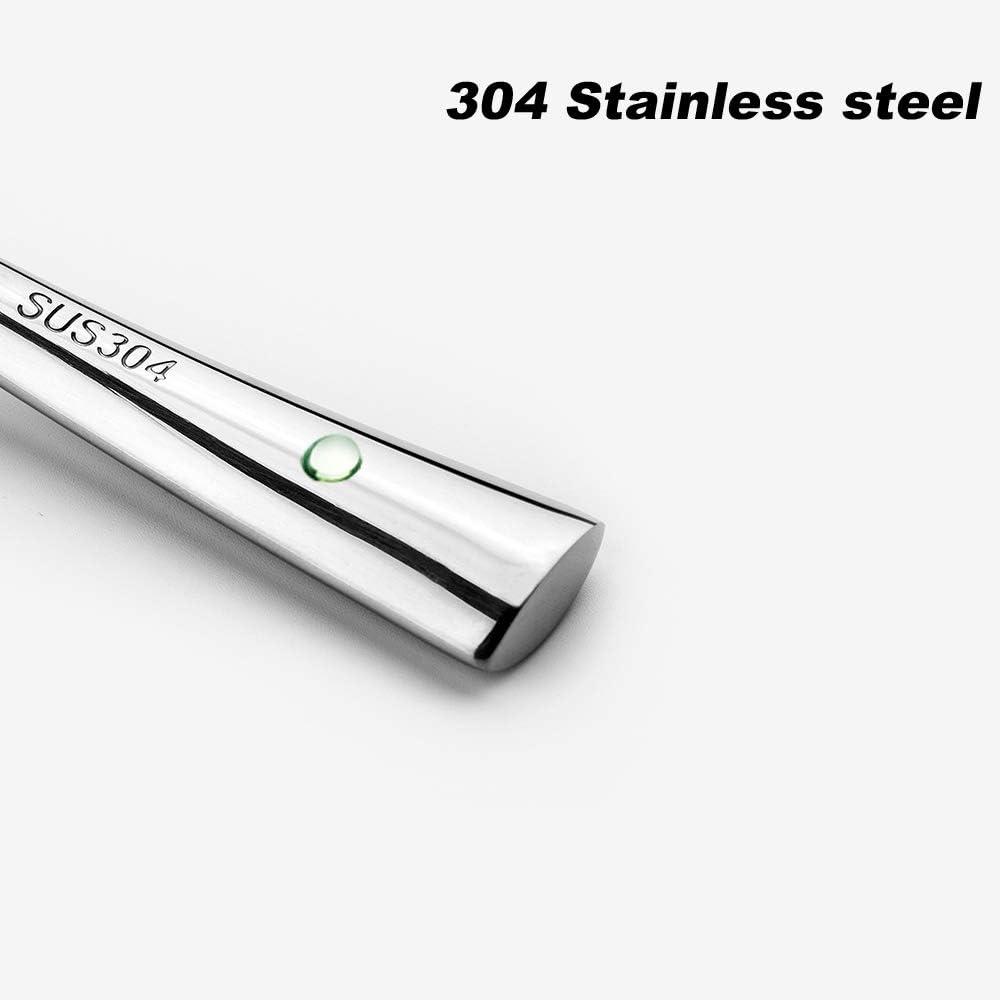 WENKONI 8 Gravy Soup Spoon,Soup Ladle,2 Pack SUS 304 Stainless Steel Ladle,Hollow handle . Color:Silver