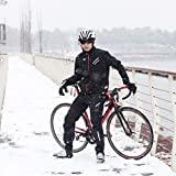 ROCKBROS Winter Cycling Pants Warm Ergonomics Men's Windproof Thermal Bicycling Pants Black