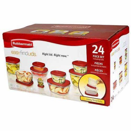 Rubbermaid 24 Piece Easy Find Lids Food Storage Container Set, Microwave Safe (1)