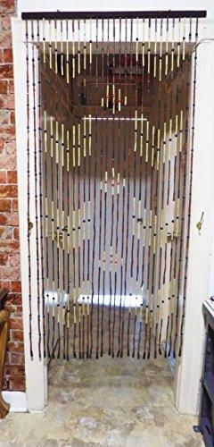 Pearled Blue Curtains Cortina de bambú Hecha a Mano DE 1,8 m, Barra Resistente, Fácil Instalación, no Requiere Montaje.