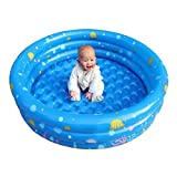 Gbell Large Family Inflatable Pool Bath Swimming Tub with 1 Repair Package,Summer Game Kids Swim Pool Water Toys for Adults Boys Girls,56×43×20Inch,Blue (Blue, 25×22×6CM)