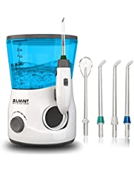 Belmint Water Flosser Dental Oral Irrigator for Teeth Braces - Deep Cleaning Between Teeth, Gum Flosser for Teeth, Braces, and Bridges, 3 Water Jet Tips Includes Tongue Scraper, 600ml Water Tank
