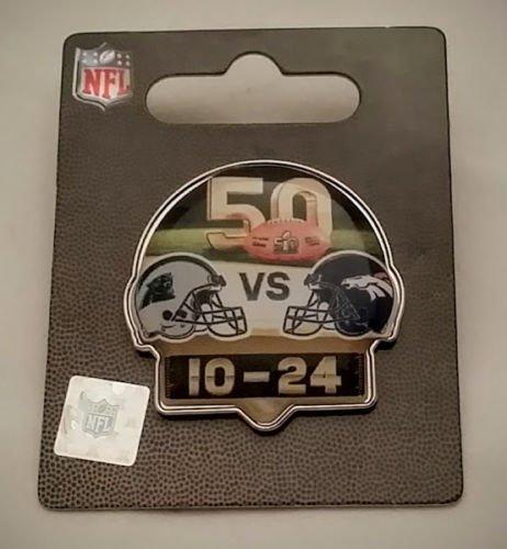 Denver Broncos 2016 Super Bowl 50 Champions Duel Helmet Score Pin (Bowl Champions Helmet)