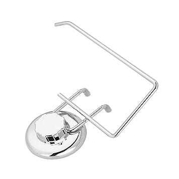 Edelstahl-Badezimmer-WC-Toilettenpapier-Halter-Rollen-Aufhänger-Wand-Saugnapf