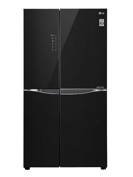 LG 675 L Inverter Frost Free Side By Side Refrigerator  GC C247U  GBM, Black  Refrigerators