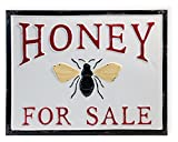 Celebrate the Home Farmhouse Style Decorative Metal Sign, Honey for Sale