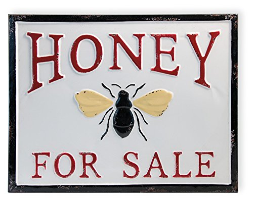 armhouse Style Decorative Metal Sign, Honey for Sale ()