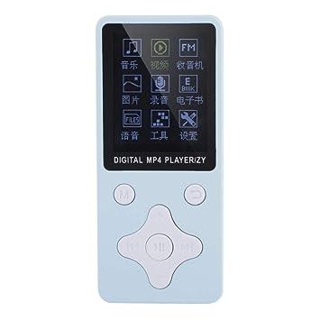 Reproductor de música MP3 / MP4 con Tarjeta de Memoria de 32 GB y Auriculares, Compatible con Tarjeta TF/USB/música/Radio/grabación/Video/Libros ...