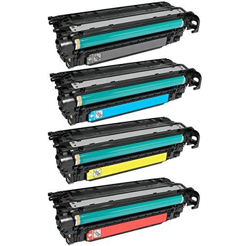 Laserjet 500 M575c Laser - HQ Supplies Remanufactured Replacement for HP 507A HP 507X Toner Set, HP CE400X, CE401A, CE402A, CE403A, for HP LaserJet Enterprise 500 Color M551dn, M551n, M551xh, MFP M575dn, MFP M575f, MFP M575c
