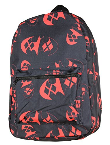 [DC Comics Batman Harley Quinn Logo Backpack] (Cool Female Superhero Costumes)
