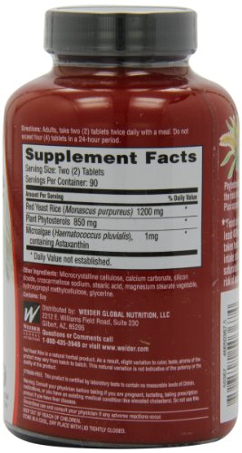 Weider Plus with Phytosterols 1200 mg - 180 Tablets