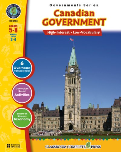 Worksheets Reading Free - Canadian Government (North American Governments Series)