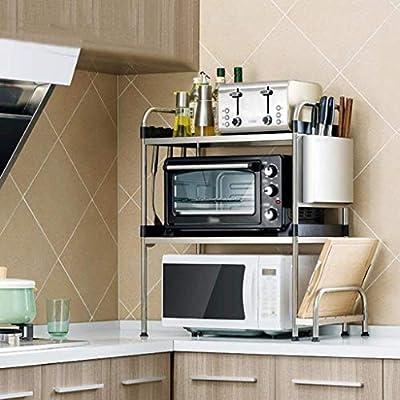 Amazon.com: GOHHK - Estantería de cocina de acero inoxidable ...